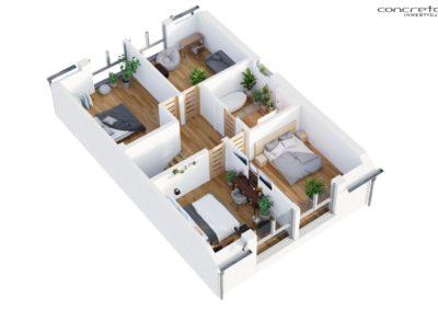 Concreto Inwestycje - Smolec ul Polna - Piętro 3D